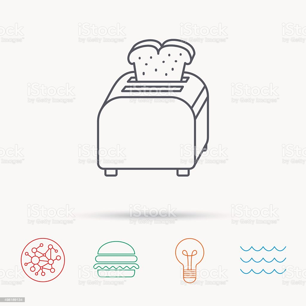 Toaster icon. Sandwich machine sign. vector art illustration