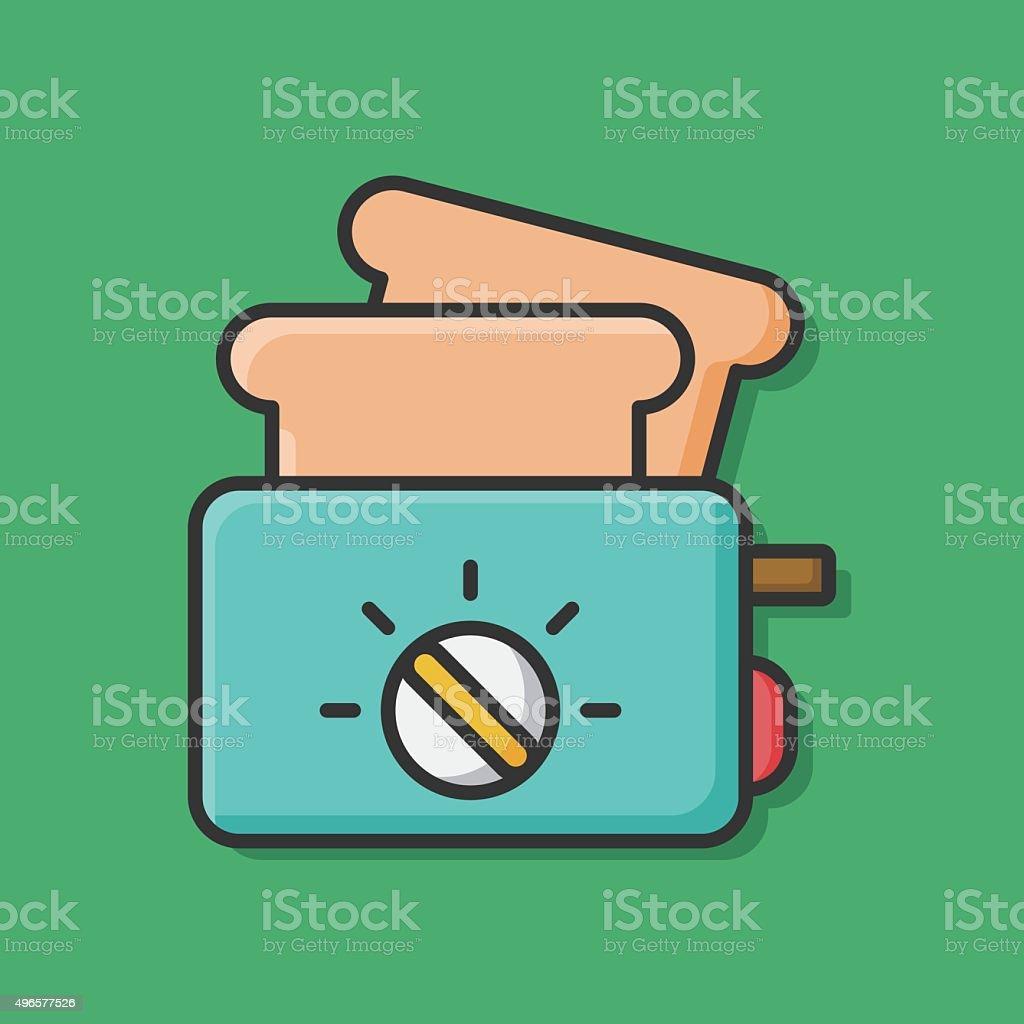 toaster icon vector art illustration