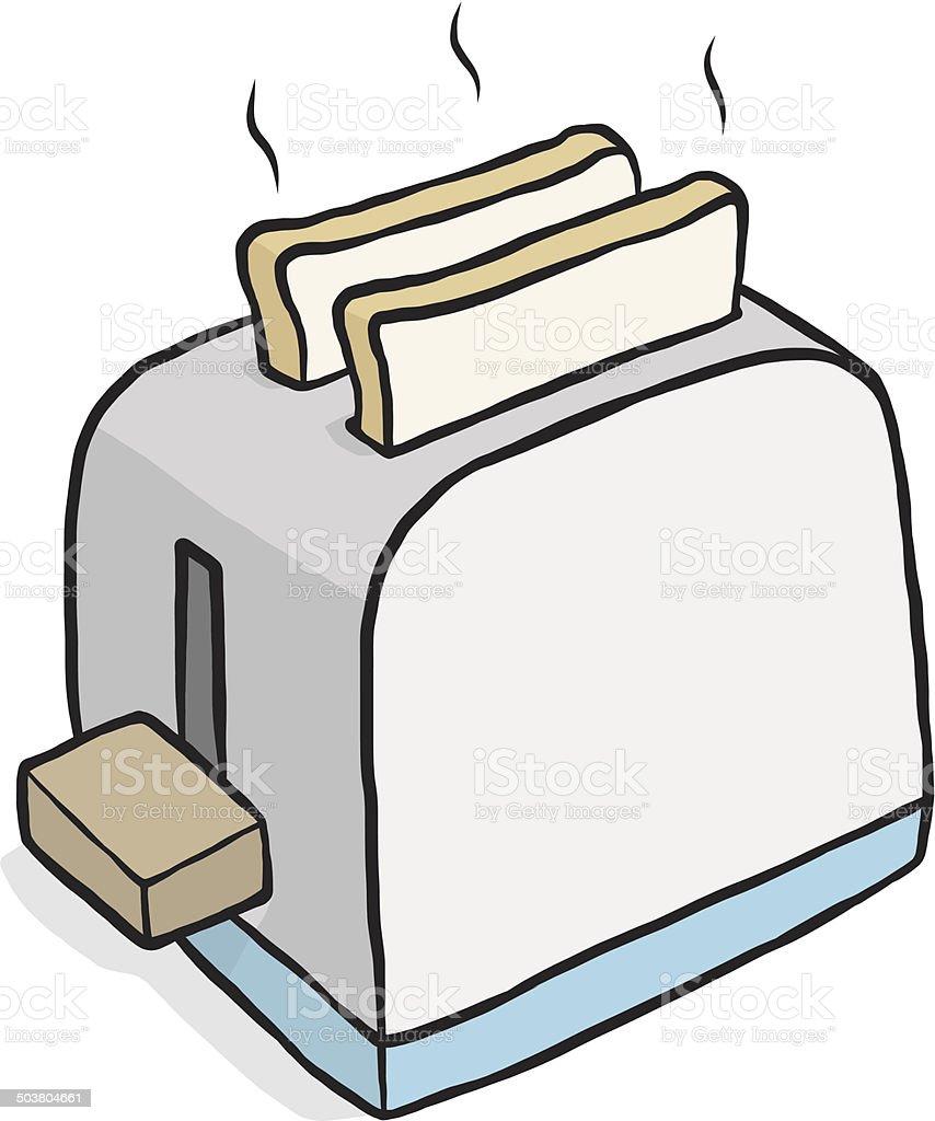 toaster vector art illustration