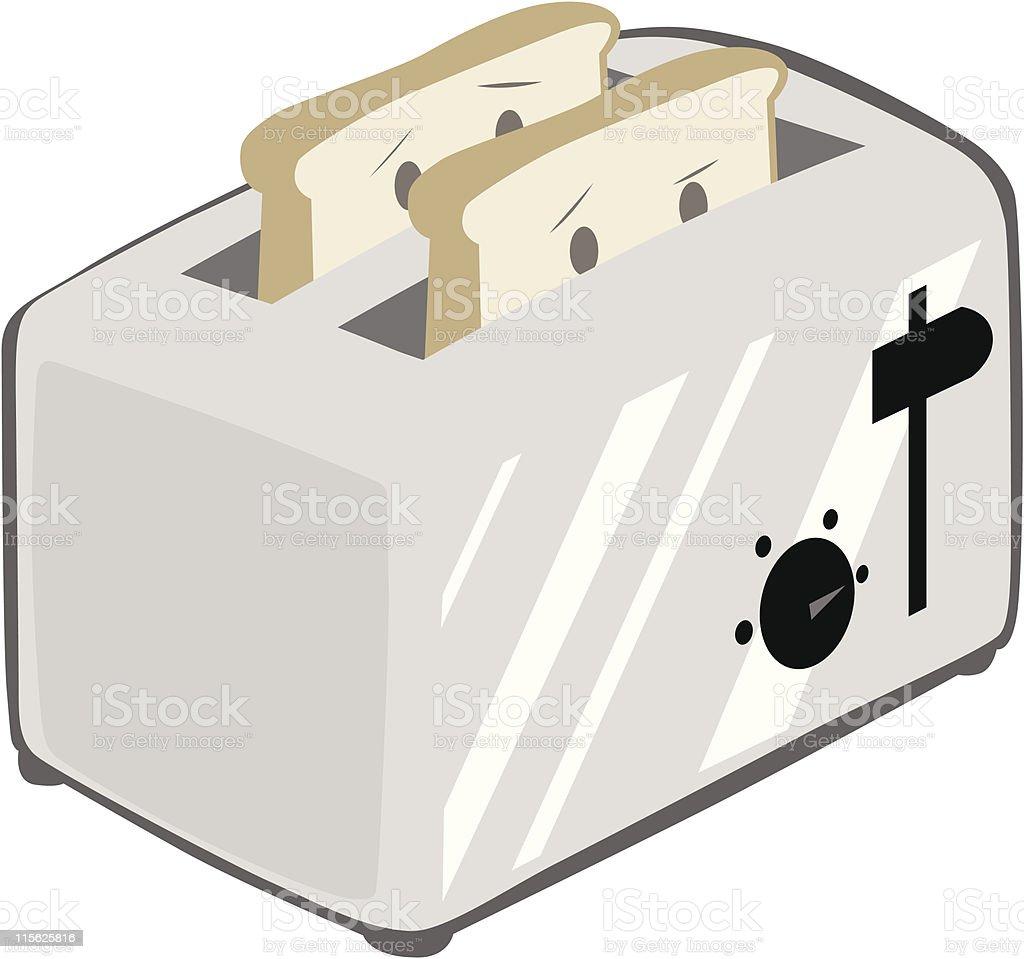 Toaster with Toast - Cute vector art illustration