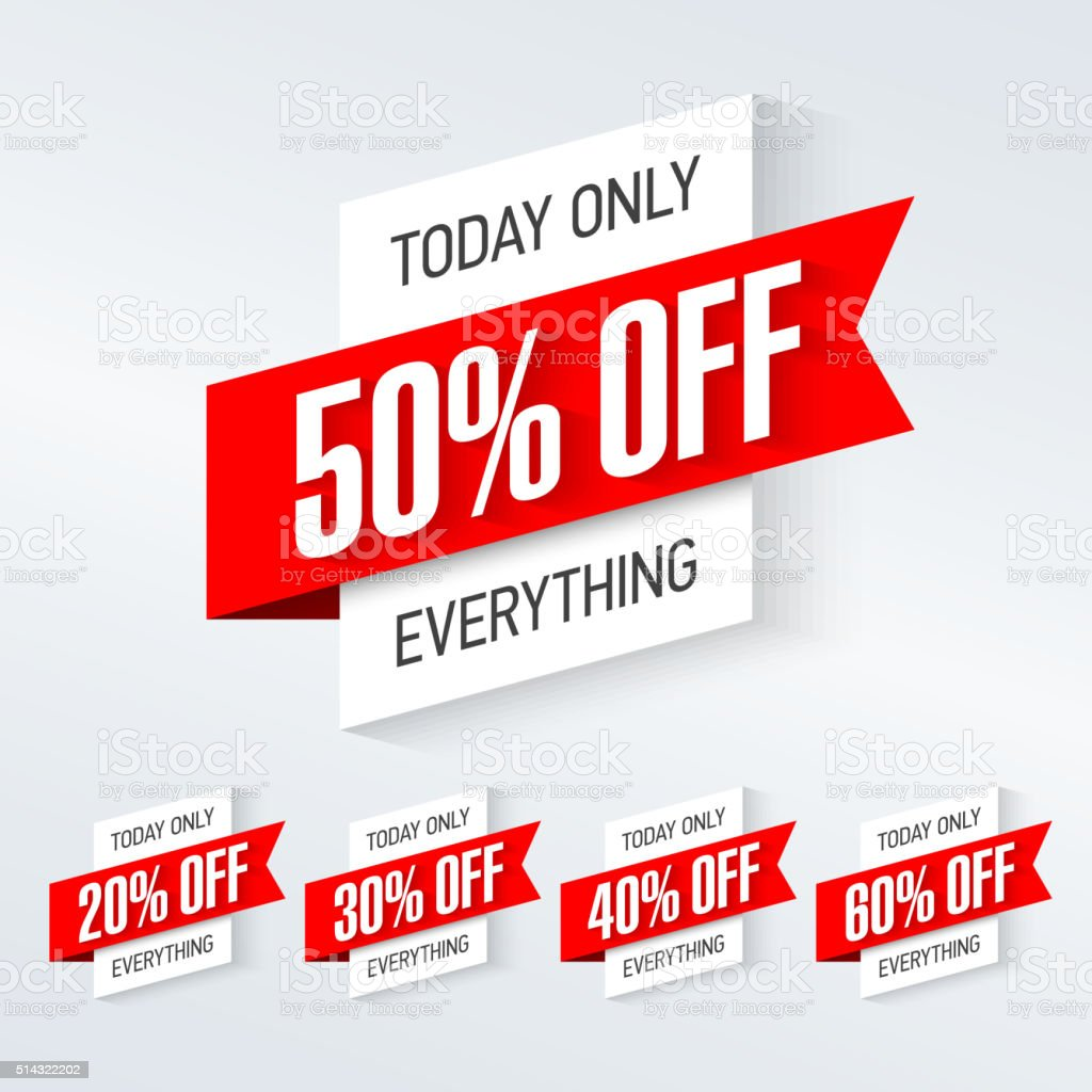 Today only, one day super sale banner vector art illustration