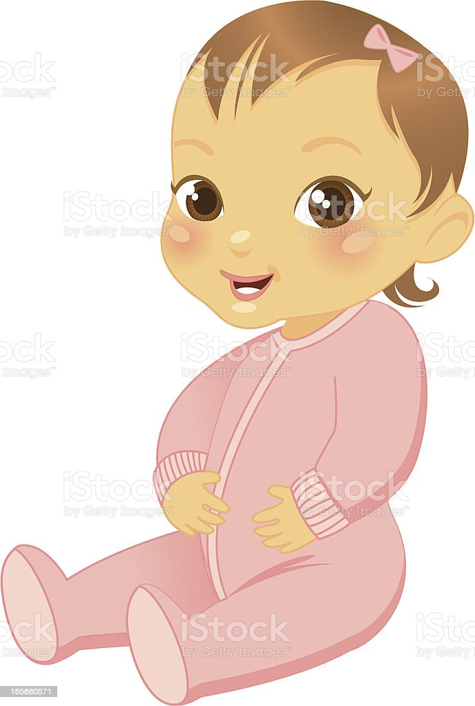 Toddler Girl royalty-free stock vector art