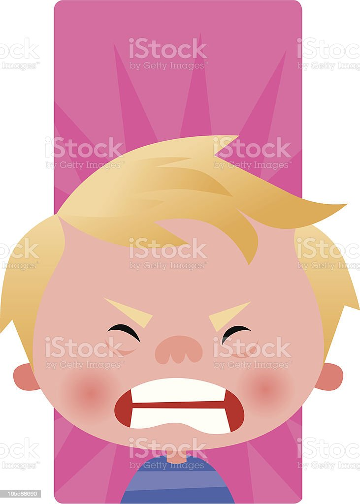 Toddler tantrum vector art illustration