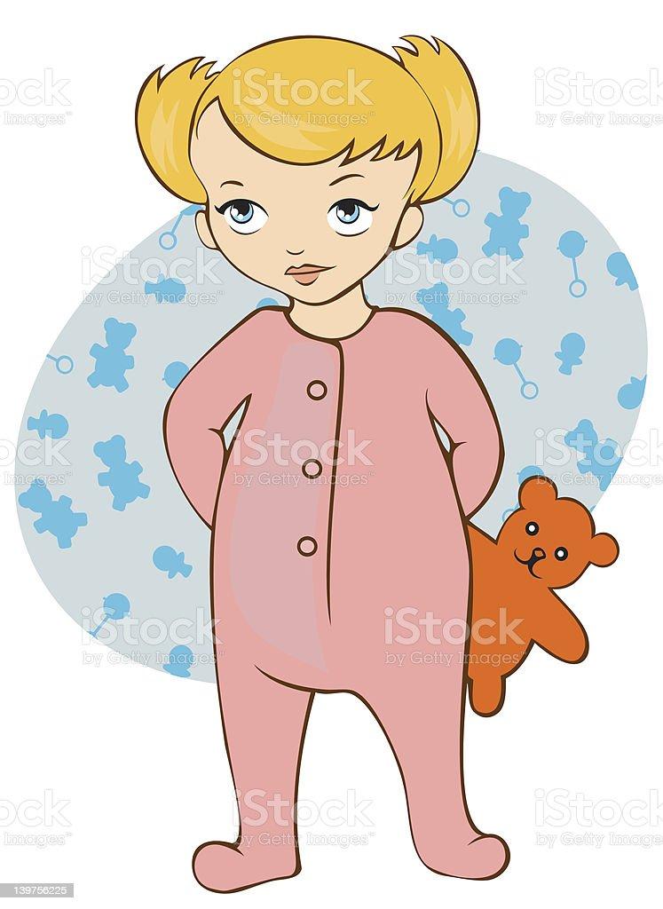 Toddler vector art illustration