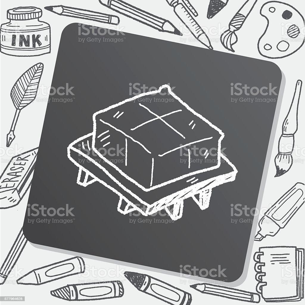 tofu doodle vector art illustration