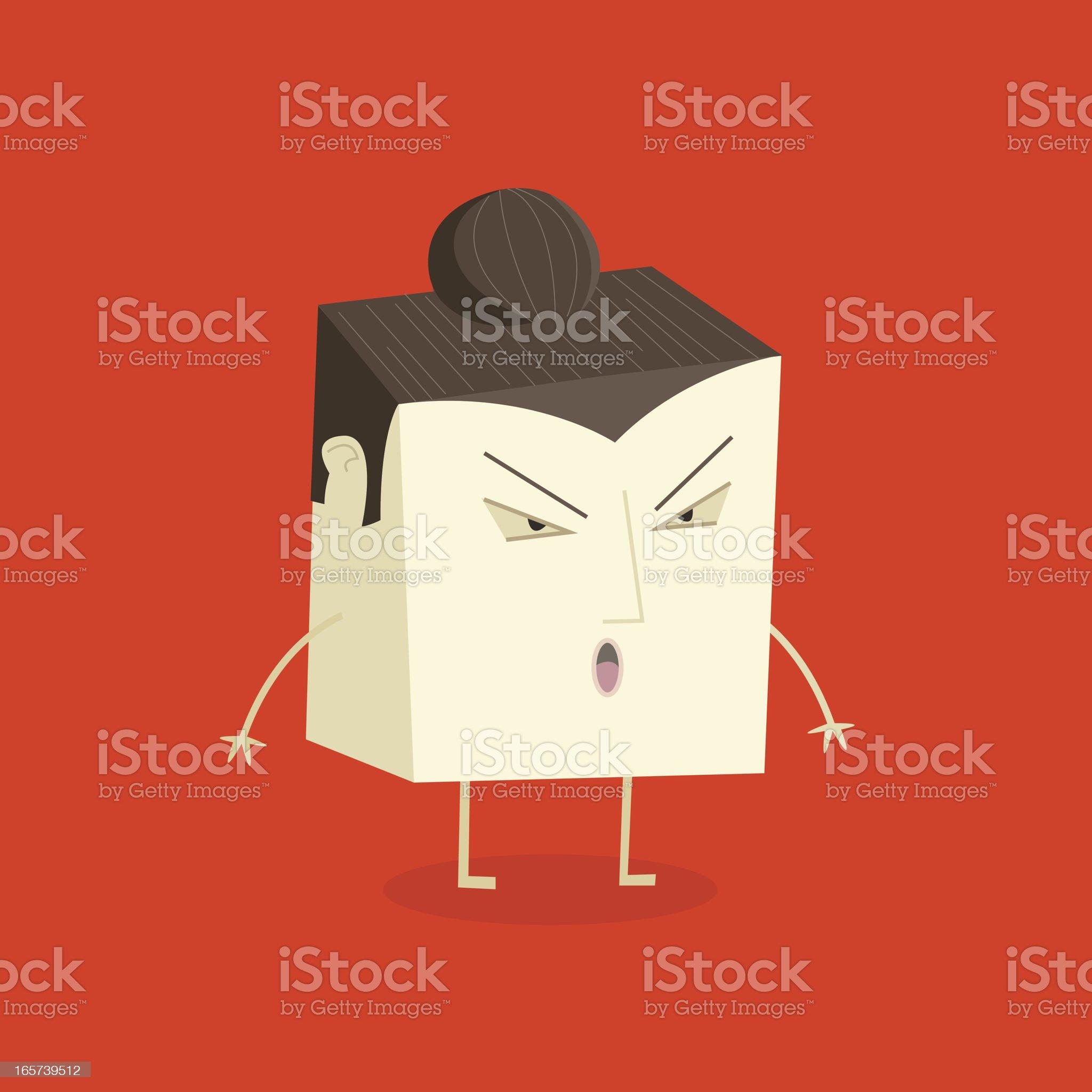 Tofu Sumo royalty-free stock vector art