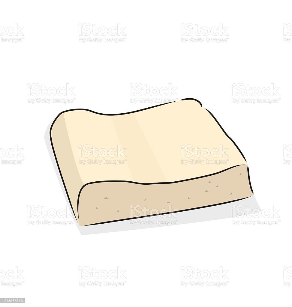 tofu vector art illustration