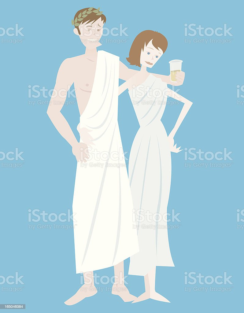 Toga Party vector art illustration