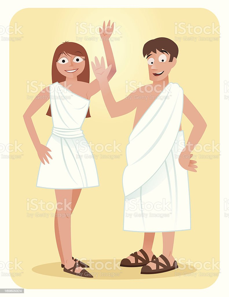 Toga royalty-free stock vector art