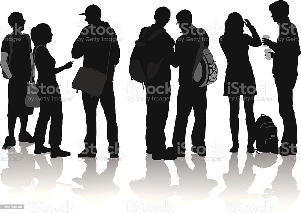 Together Vector Silhouette vector art illustration