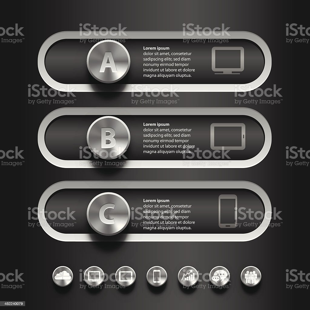 ABC Toggle switch info graphic royalty-free stock vector art