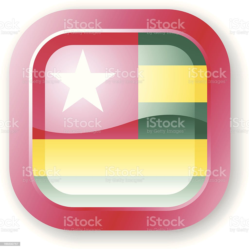 Togo Flag Icon royalty-free stock vector art