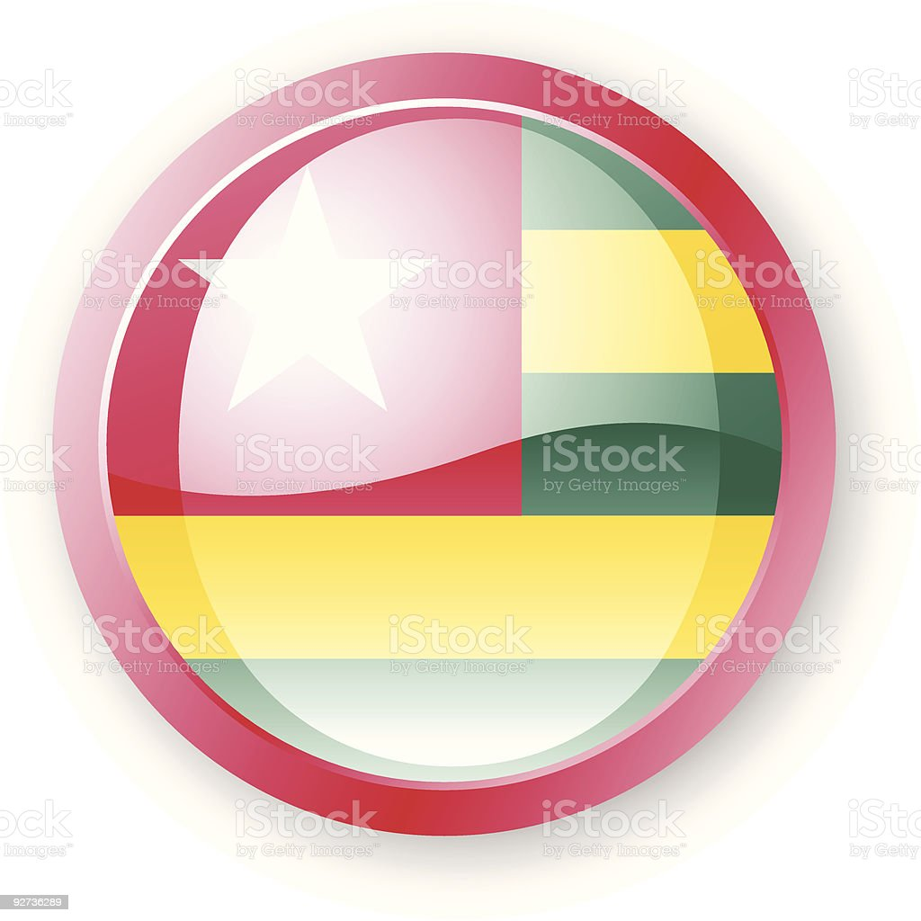 Togolese Flag Icon royalty-free stock vector art