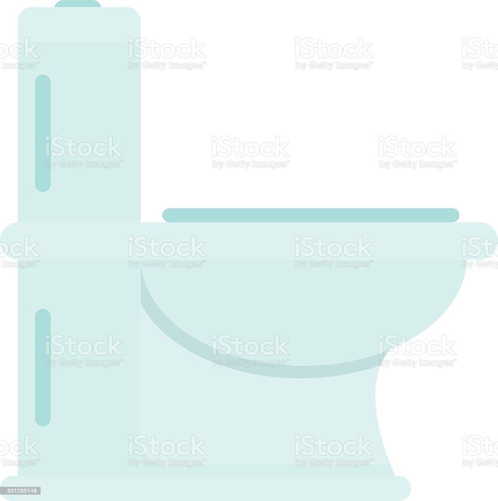 Toilet bowl bath flat vector vector art illustration