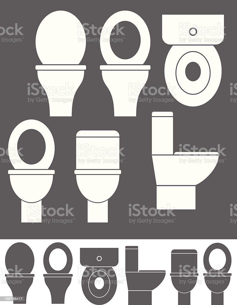 Toilet Bowl vector art illustration