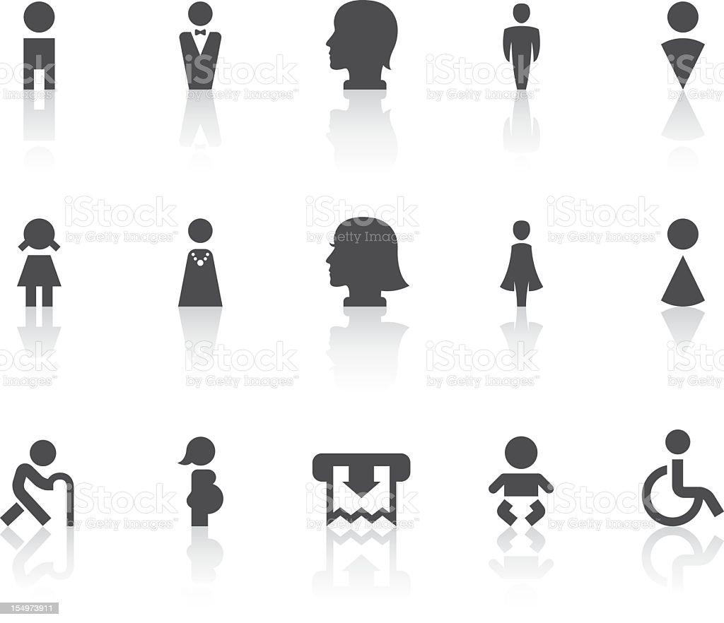 Toilet Icons | Simple Black Series vector art illustration