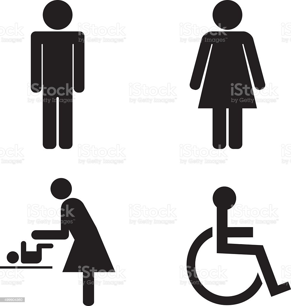 Toilet Icons vector art illustration