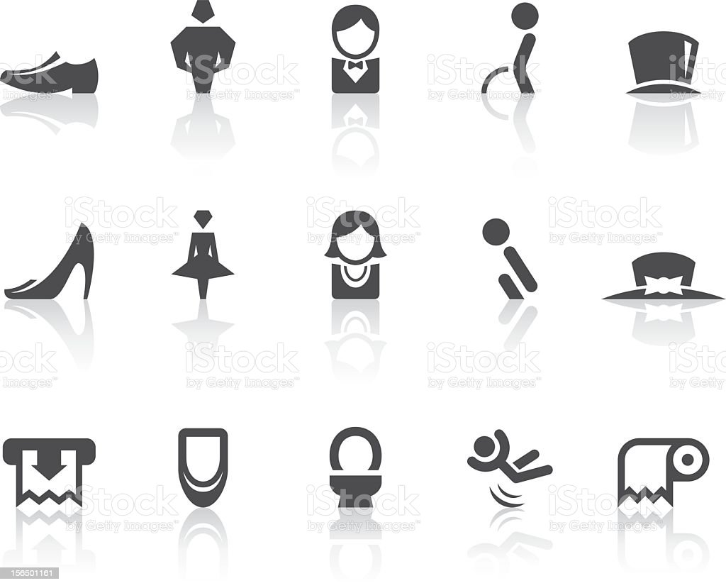 Toilet II Icons | Simple Black Series vector art illustration
