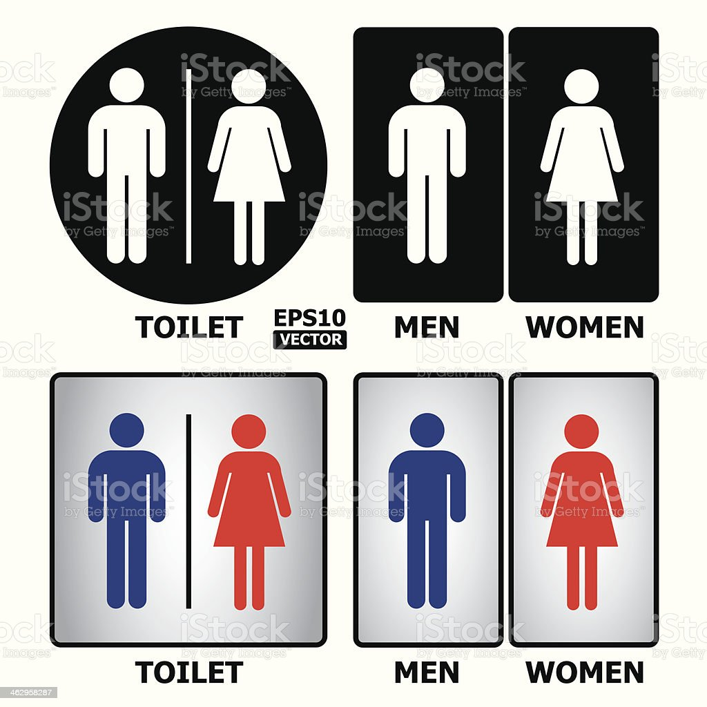 Toilet or restroom sign. royalty-free stock vector art