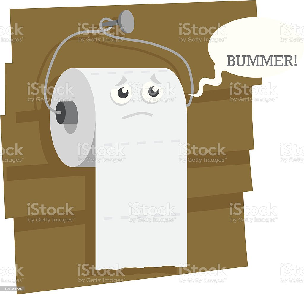 toilet paper and bad puns royalty free stock vector art - Bathroom Puns