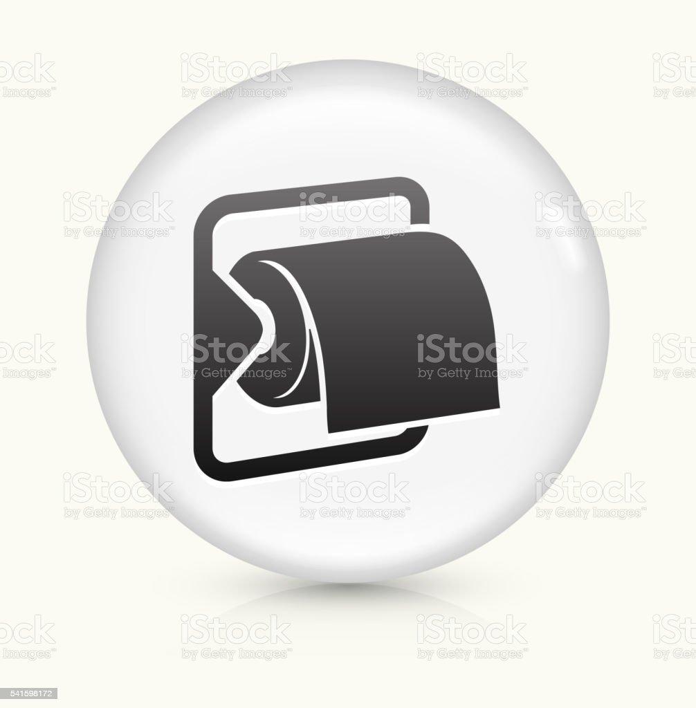 Toilet Paper icon on white round vector button vector art illustration