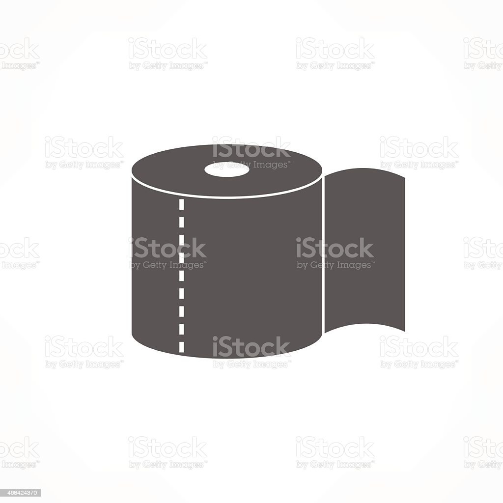 toilet paper icon vector art illustration