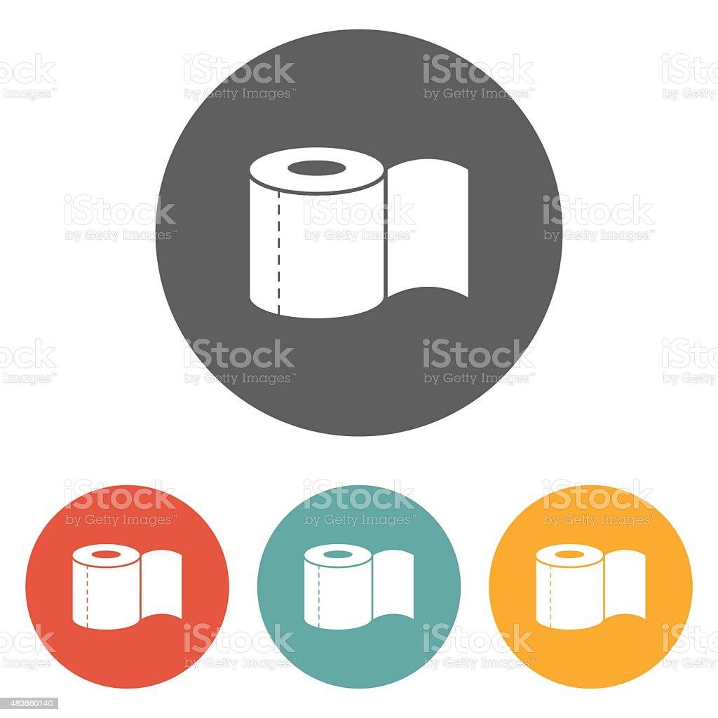 toilet paper icon vector art illustration