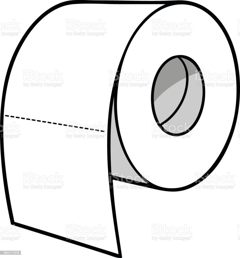 toilet paper illustration stock vector art 653177378 istock. Black Bedroom Furniture Sets. Home Design Ideas