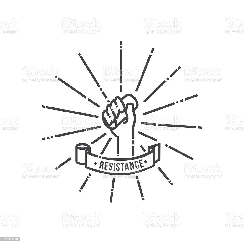 Toilet paper resistance icon vector art illustration