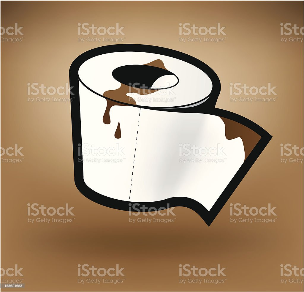 toilet paper roll reworked vector art illustration