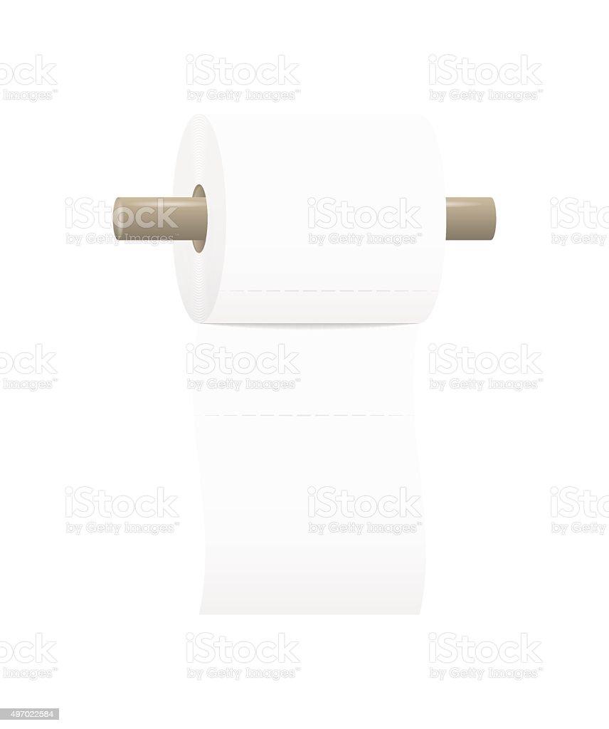 toilet paper roll vector art illustration
