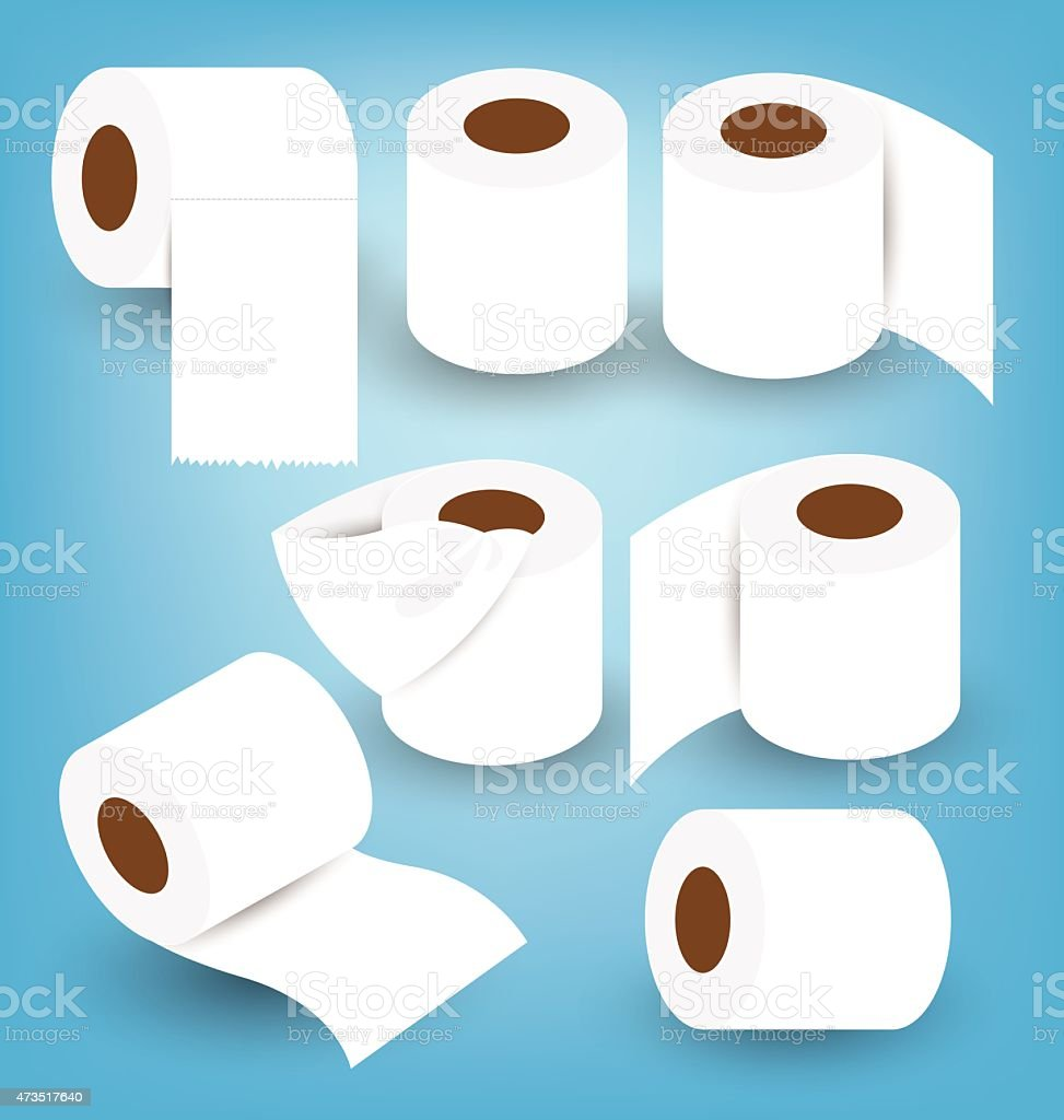 Toilet paper set vector illustration vector art illustration