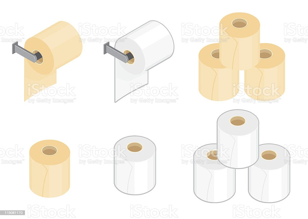 Toilet Paper vector art illustration