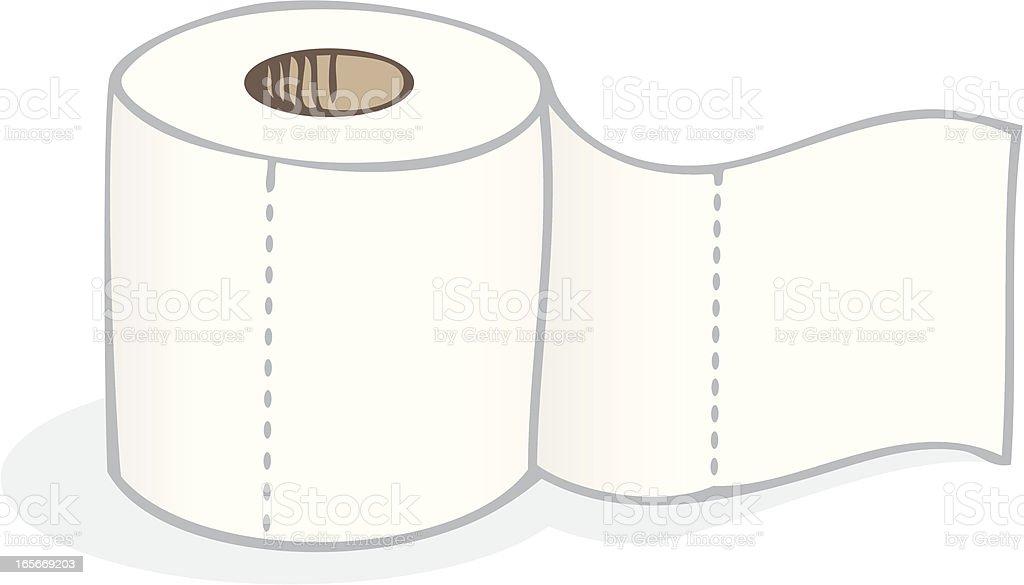 Toilet Paper royalty-free stock vector art