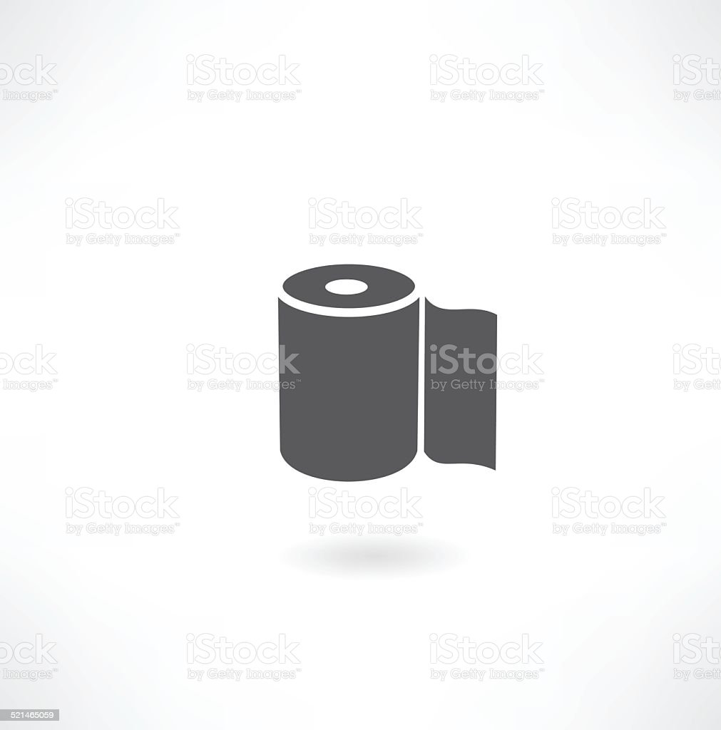 toilet paper vector art illustration