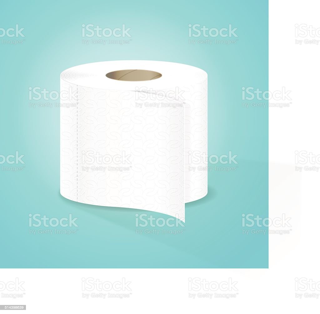 Toilet Paper Vector Illustration vector art illustration