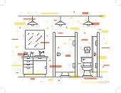 Toilet room vector illustration