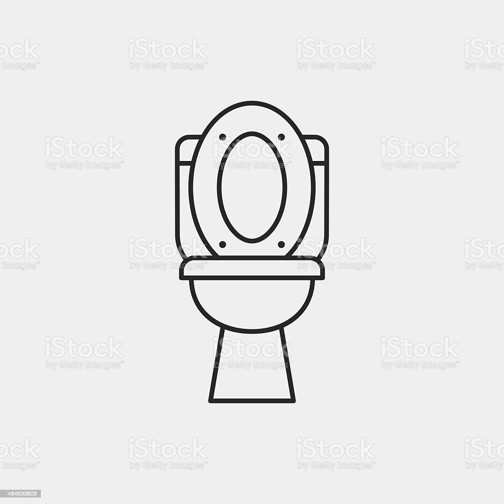 Toilet seat line icon royalty free stock vector art. Toilet Seat Line Icon stock vector art 484630806   iStock