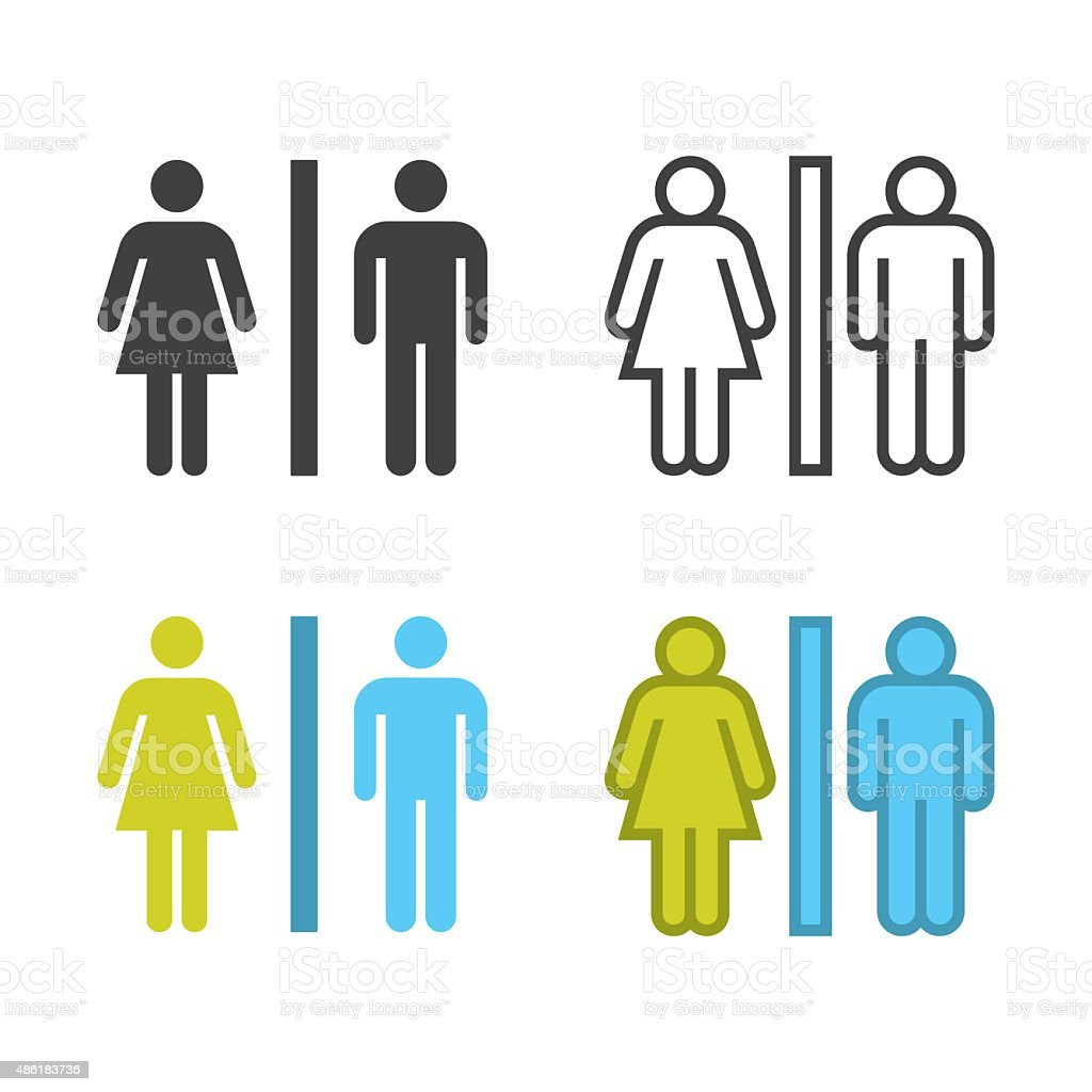 Toilet Sign Icon vector art illustration