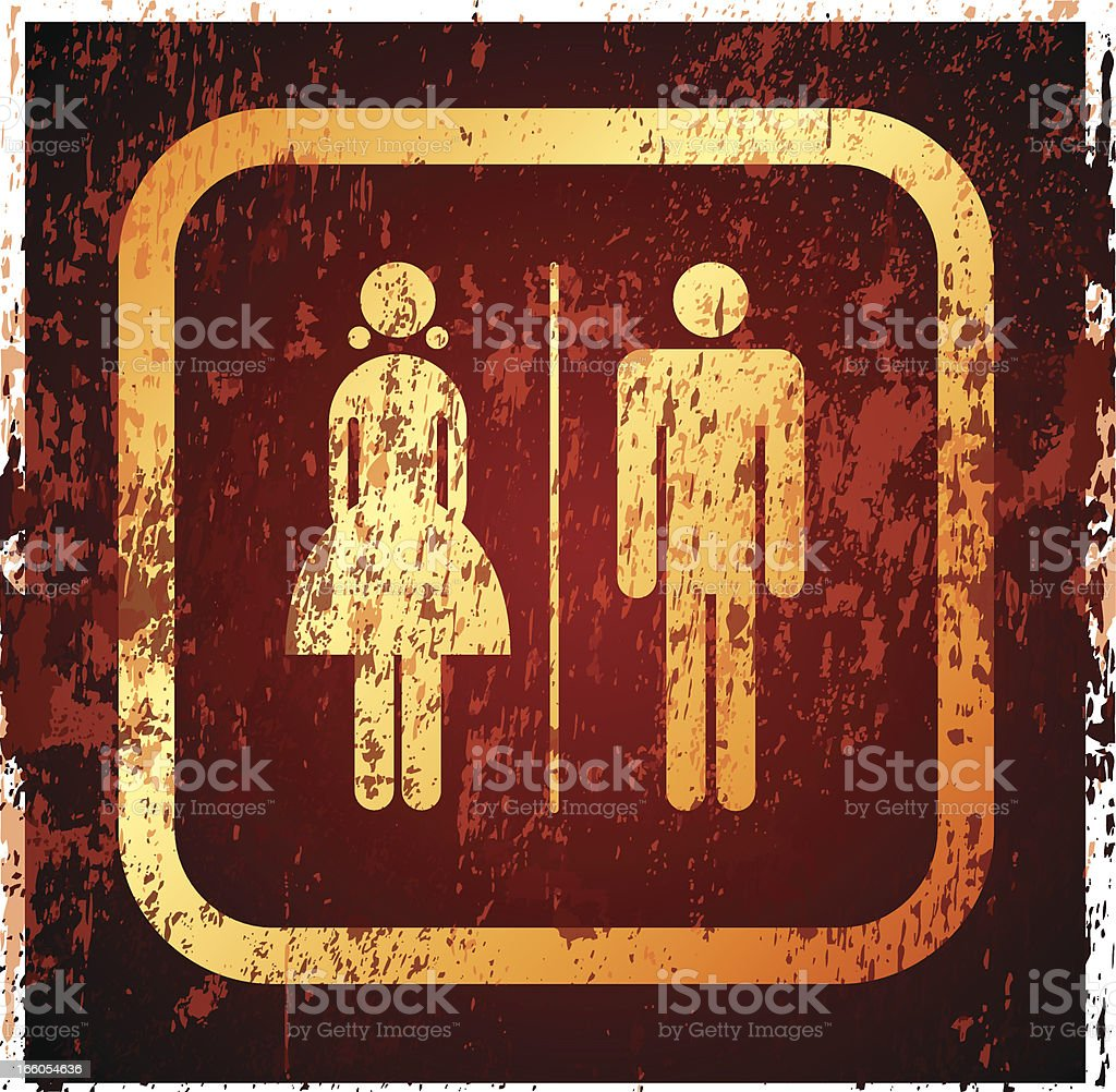 Toilet sign royalty-free stock vector art