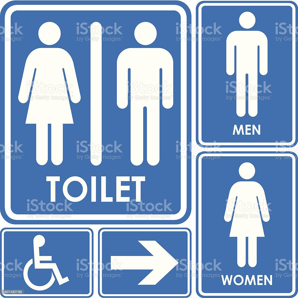 Toilet sign vector art illustration