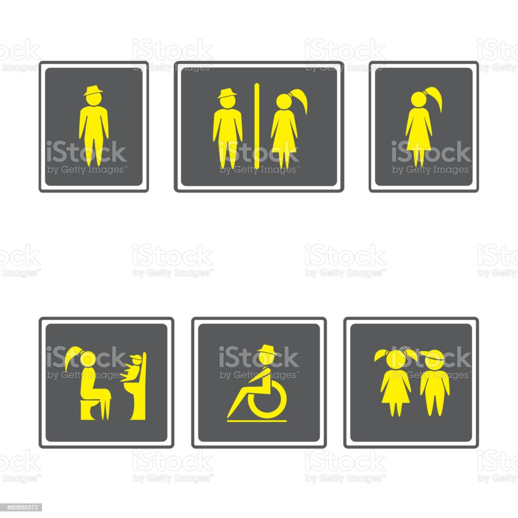 Boy Bathroom Sign Toilet Signs Restroom Signboardsboy And Girl Iconman And Woman