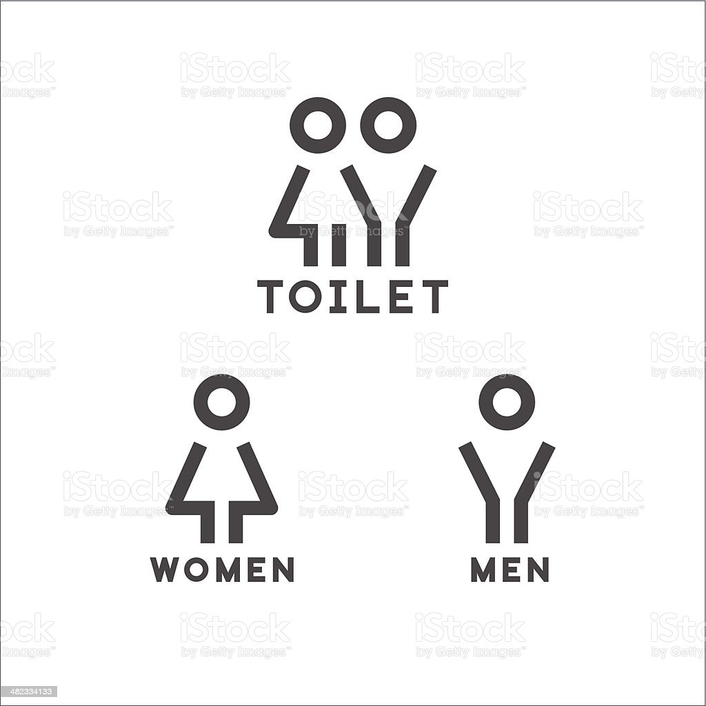 Toilet signs vector art illustration