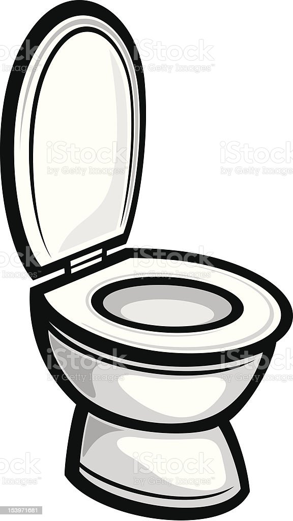 Toilet vector art illustration