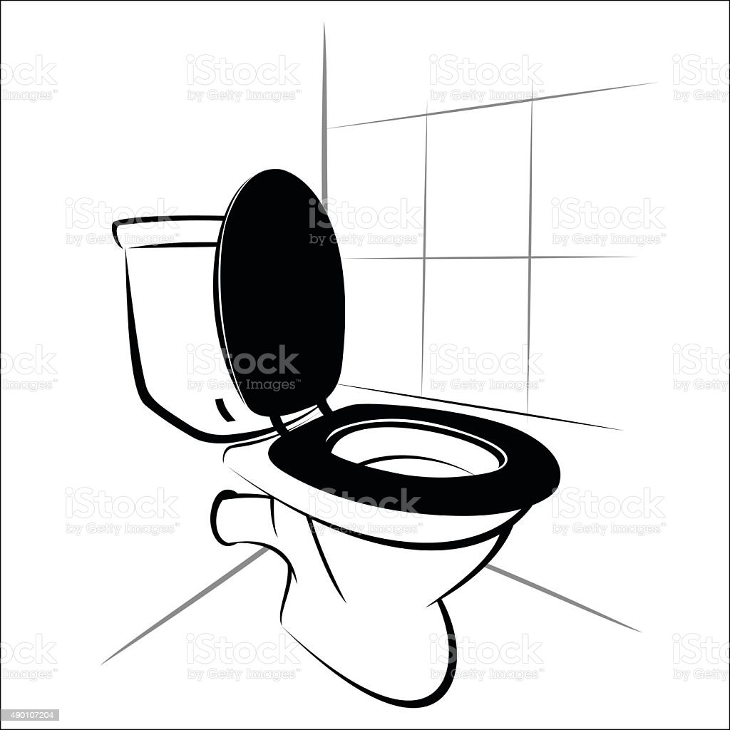 Toilet royalty-free stock vector art
