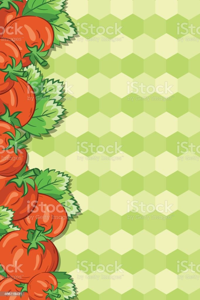 Tomato Hex Background royalty-free stock vector art