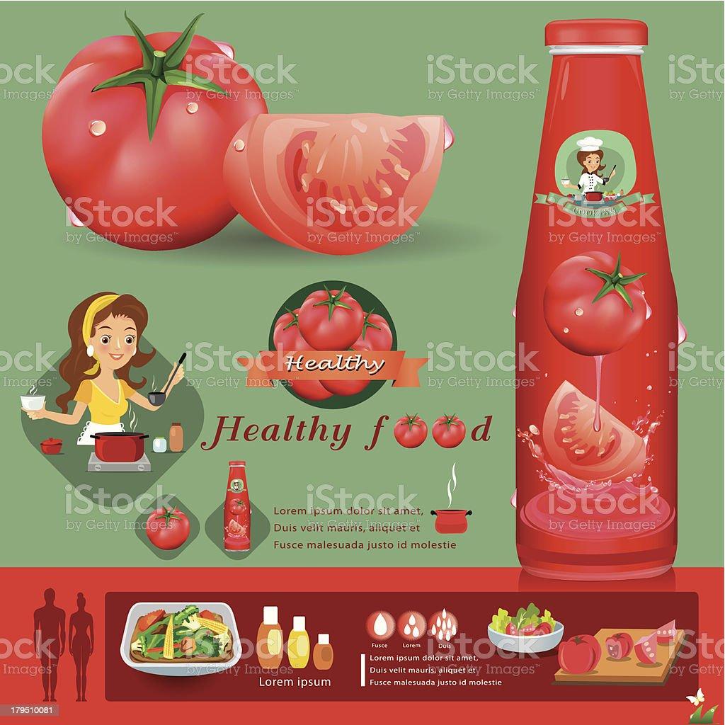 tomato infographics vector illustration royalty-free stock vector art