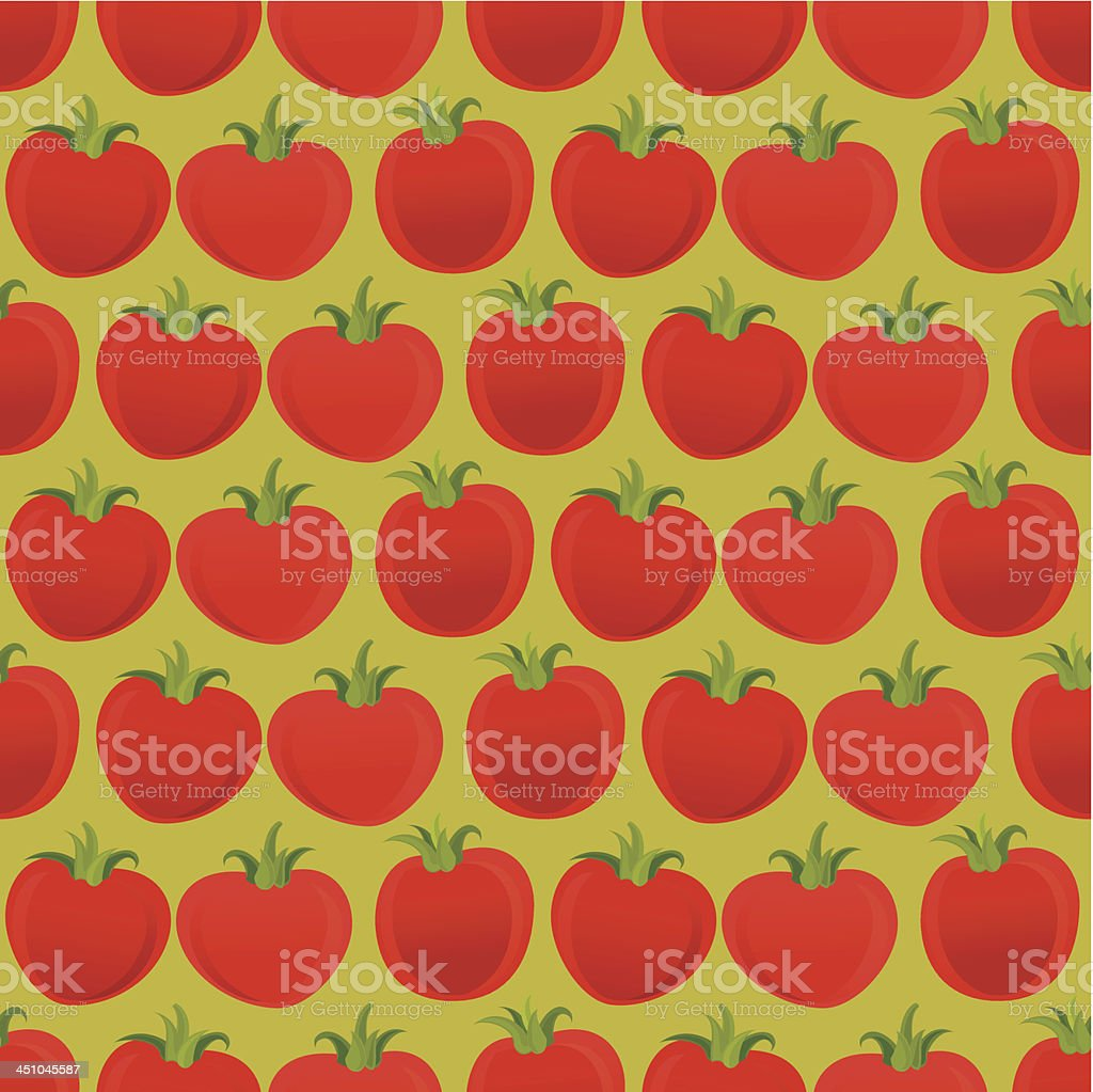 Tomato Pattern royalty-free stock vector art