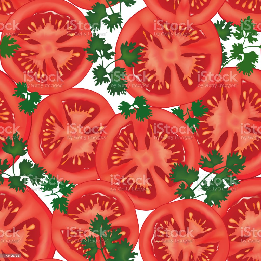 tomato seamless background. royalty-free stock vector art