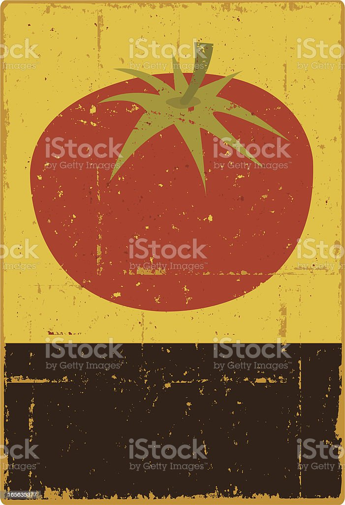 Tomato Sign vector art illustration